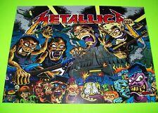 METALLICA Premium Monsters Original NOS Pinball Machine Translite Heavy Metal