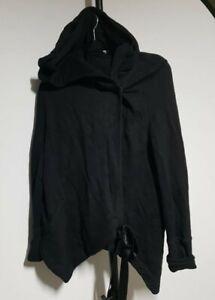 Ann Demeulemeester designer soft jacket with hood and velvet tie size 36 euc