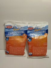 """HTH Super 2 pack 6oz 3"""" Chlorinating 4-in-1 Tablets Swimming Pools Fast Ship"""