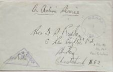 NEW CALEDONIA W W 2 CENSORED NEW ZEALAND FORCES COVER + N.Z.A.P.O. 150 CACHET