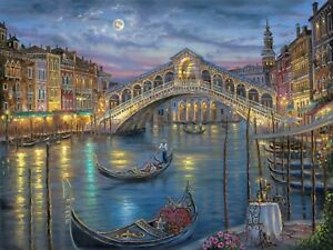 VENICE PAINTING - DECOR LARGE WALL ART CANVAS FRAMED PICTURE 30X18INCH