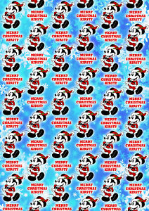 MICKEY MOUSE CLASSIC Personalised Christmas Gift Wrap - Disney Wrapping Paper