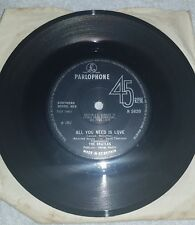 THE BEATLES : ALL YOU NEED IS LOVE / BABY YOUR A RICH MAN PARLOPHONE  VINYL