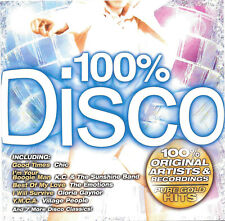 100% Disco - Pure Gold Hits by Various Original Artists Recording CD - 12 Tracks