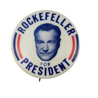Vtg Nelson Rockefeller Presidential Political Campaign Pinback Button #1