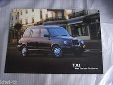 LTI London Taxis International TX1 Prospekt / Brochure, D, 9.1999