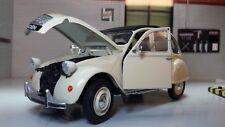 G LGB 1:24 Scale Citroen 2CV Charleston Welly Diecast V Detailed Model Cream