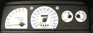 Lockwood Ford Escort Mk4 inc. XR3i & RS Turbo (Fuel on Left) WHITE (B) Dial Kit