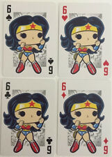 WONDER WOMAN Set of 4 Funko Pop DC Comic Playing Cards - Ace, Queen, King, Jack