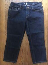 Ann Taylor LOFT Modern Crop Dark Wash Jeans Sz 28 / 6 P Petite (C#1048)