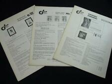 3 ISSUES OF THE OXCART - QUARTERLY PUBLICATION OF COSTA RICA COLLECTORS - 1982/3