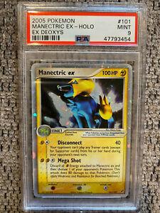 2005 Pokemon EX Deoxys Manectric EX 101/107 PSA 9 mint Rare Holo Tcg Wotc Gold