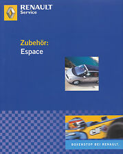 Prospekt Renault Espace Zubehör 2006 Autoprospekt 3 06 brochure Auto PKWs Europa