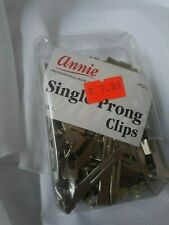 HB03   Annie Single Prong Clips - 75 Clips in this Box - New