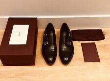 John Lobb William Double Monk Strap Black Leather Shoes Mens UK 12 / EU 46 £995