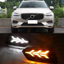 DRL FOR Volvo XC60 2018 2019 LED DAYTIME RUNNING LIGHTS FOG LAMP W TURN SIGNALS