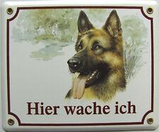 Hunde Hund Email Warn Schild Schäferhund Hier Wache ich ! inkl. Schrauben
