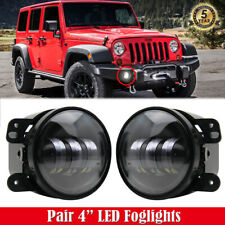 "Pair 4"" LED Foglights DOT Approved Cree Chips for Jeep Wrangler Compass Liberty"