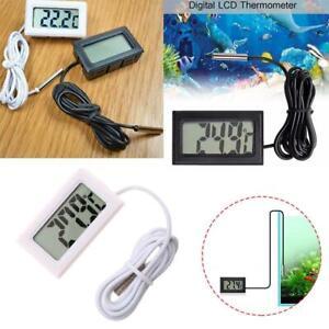 Aquarium Thermometer LCD Digital Fish Tank Water Temperature Tester I9G9