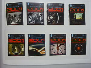 ISLE OF MAN 2018 50th ANNIV 2001 A SPACE ODYSSEY SET 8 MINT STAMPS