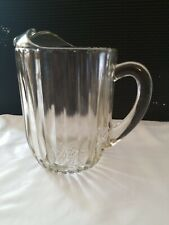 Vintage Heavy Duty Clear Glass Classic Beer or Water Pitcher
