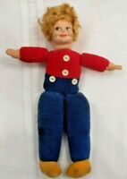 Vntg1930 Dutch Doll England By Norah Wellings. Cloth with molded cloth face 8""