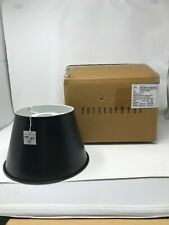 Pottery Barn Tapered Metal Black Antique bronzeLARGE Light Shade/Hood NEW