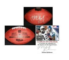 MICHAEL ROBINSON SIGNED NFL GAME FOOTBALL SEATTLE SEAHAWKS PENN STATE W/COA NICE
