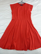 CITY CHIC S 16 NWT RRP $99.95 DRESS FRILL SHOULDER RED