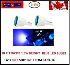 10PC COB blue Bright LED T10 194 158 168 91 Map Dome License Plate Light Bulb