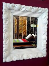 STUNNING BEVELED MIRROR IN HANDCARVED ITALIAN IMPORT FRAME FROM HIGH-END GALLERY