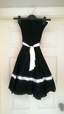 Black skater/prom style dress size 8-10