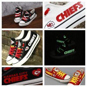KANSAS CITY CHIEFS Women's Men's Shoes Sneakers Football Team Glow in the Dark