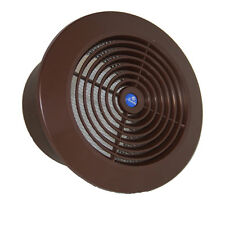 Circle Air Vent Grill Cover 125mm Ducting Brown Ventilation Cover Z-(60)