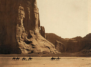 Canyon De Chelly-Navaho 22x30 Hand Numbered Edition Curtis Native American Art