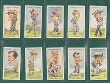 GOLF - 250  SETS OF 50 CHURCHMAN ' PROMINENT  GOLFERS ' CARDS  -  REPRINTS