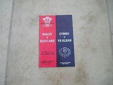 Wales v Scotland Saturday 1st March 1980 Matchday Programme