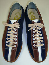 Women's Suede Rental Bowling Shoes Size 5 1/2  Blue Brown Leather Sole 5.5 NEW