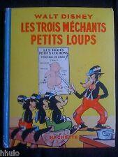 Livre enfant ancien Walt Disney Silly symphonies Les méchants petits loups 1937