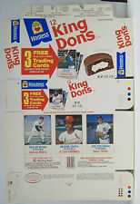 1975 Hostess King Dons Uncut Unused Box Nolan Ryan Reggie Smith Coleman Baseball