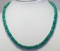 Amazonit Kette Edelsteinkette halskette linsen Grün amasonit Collier 43 cm lang