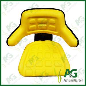Universal Suspension Seat Yellow suits John Deere Dumper,digger,Forklift
