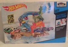 Hot Wheels Race Rally Water Park NIB Floats On Water Fun In The Tub