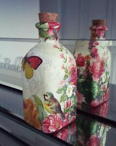 Shabby Chic 120ml glass perfume bottle - Vintage Apothecary/ Reed Diffuser decor