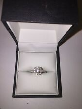 Neil Lane 14ct white gold 1.16ct diamond cluster engagement ring