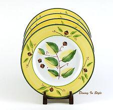 Set of 2 Dinner Plates, Meiwa / Cambridge Potteries , SUPERB! Yellow Oak Acorns
