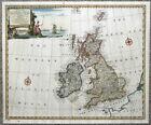 GREAT BRITAIN, British Isles, Emanuel Bowen Original Antique Map c1747