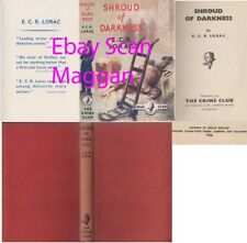 E C R Lorac  SHROUD OF DARKNESS  1st w/fdj 1954 Collins Crime Club Mystery