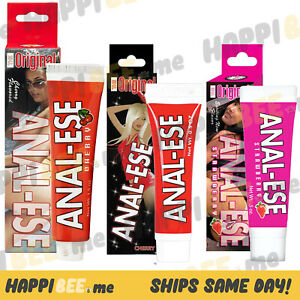 Anal Ese Eaze Cherry💕Strawberry Numbing Flavored Cream Lubricant Desensitizer