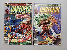 Daredevil comic lot of 2! #'s 155 and 162 (Marvel) Vg4.0-5.0 range! Nice Bronze!